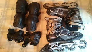 patines fila thetis pro talla 46 con protecciones