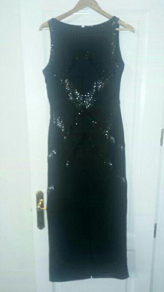 Vestido fiesta de diseño en negro