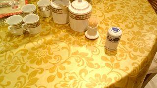 juego cafe porcelana regalo palillero con tapa dpo
