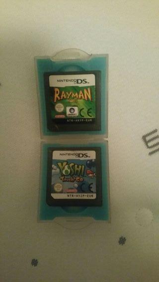 juegos de nintendo ds rayman y yoshi