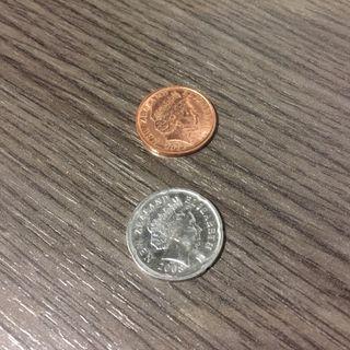 Monedas Nueva Zelanda.