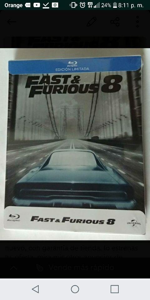 fast & furious 8 steelbook prexintado
