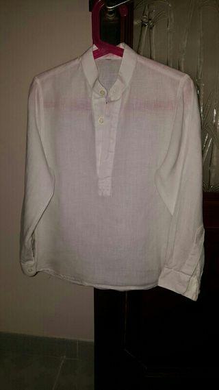camisa de hilo talla 7