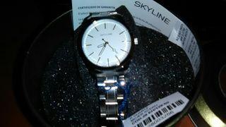 reloj de señora marca skyline acero