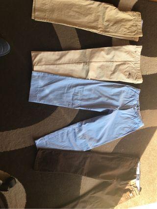 Lote ropa talla 8: pantalones, camisas, chandal...