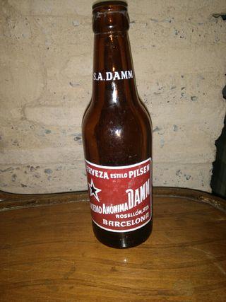 botella cerveza damm años 60