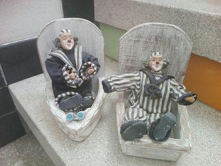 payasos muñecos antiguos