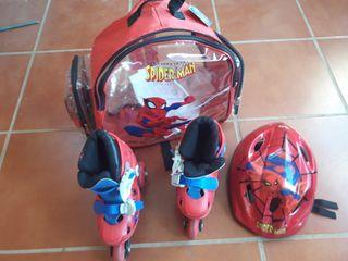 patines para niño spider man