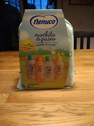 mochila nenuco pack colonia,gel, champu...