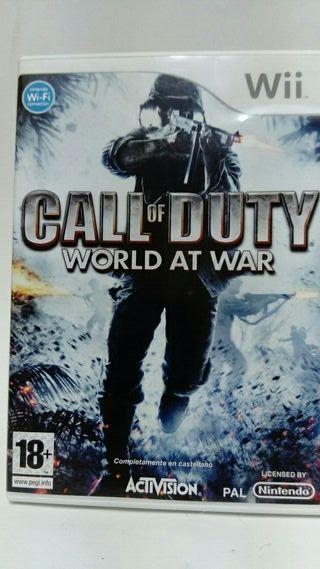 Juego wii Call of Duty con mando disparo