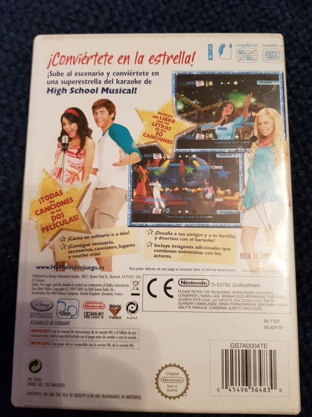 Juego Wii. High school musical