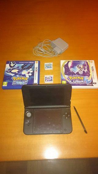 3ds xl, pokemon luna, pokemon zafiro