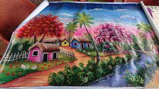 Cuadro lienzo traído de República Dominicana.