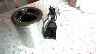 Enfriador botella + sacacorchos.