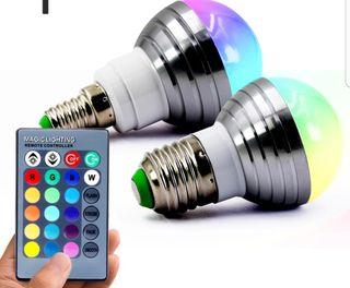 Lámpara 16 Colores Con Mando a Distancia A ESTRENA