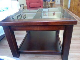 Mesa maciza de cerezo antigüedad