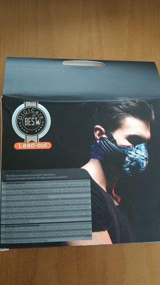 Mascarilla de carbón activo con auriculares Blueto
