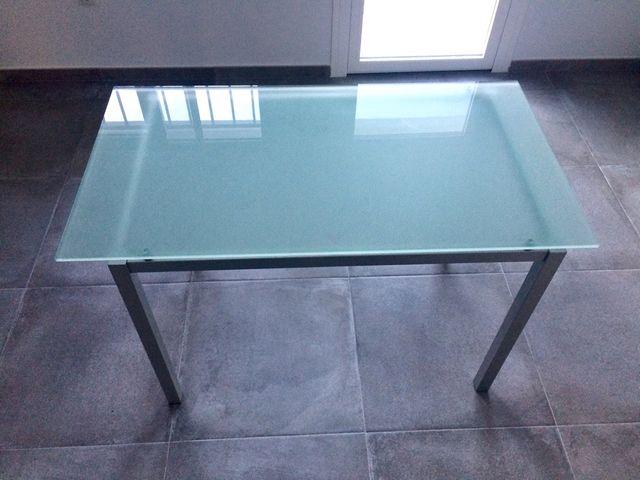 Mesa cocina cristal templado de segunda mano por 30 € en Rincón de ...