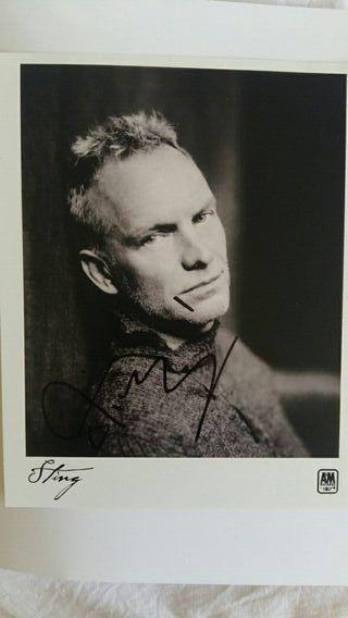 autógrafo Sting