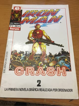 iron man crash comic