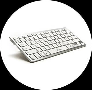 Teclado Bluetooth L-Link blanco