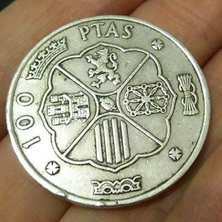 Moneda 100 ptas 1966 Plata