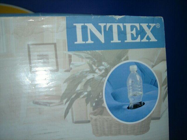 sofa hinchable INTEX 102x127x66 cm. con reposapies