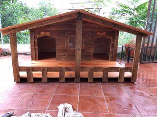 Caseta de madera chalet XXL razas grandes