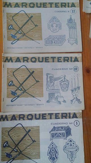 CUADERNOS MARQUETERIA ANTIGUOS