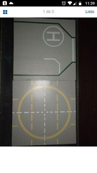 placas base de lego 6384 parque de policia