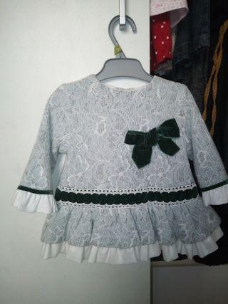 vestido bebe marca Miranda de 0-6 meses