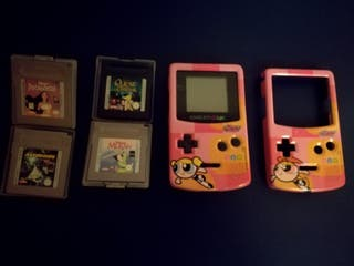 Consola Nintendo Game Boy Color morado-translúcido