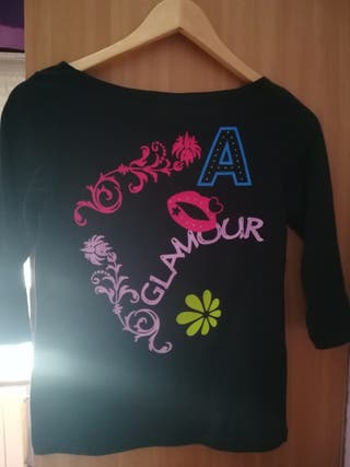 camiseta manga francesa