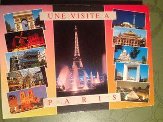 Acordeon de postales de paris