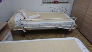 Barandillas de cama abatibles