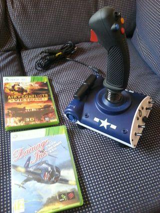 Joystick Xbox 360+2 juegos