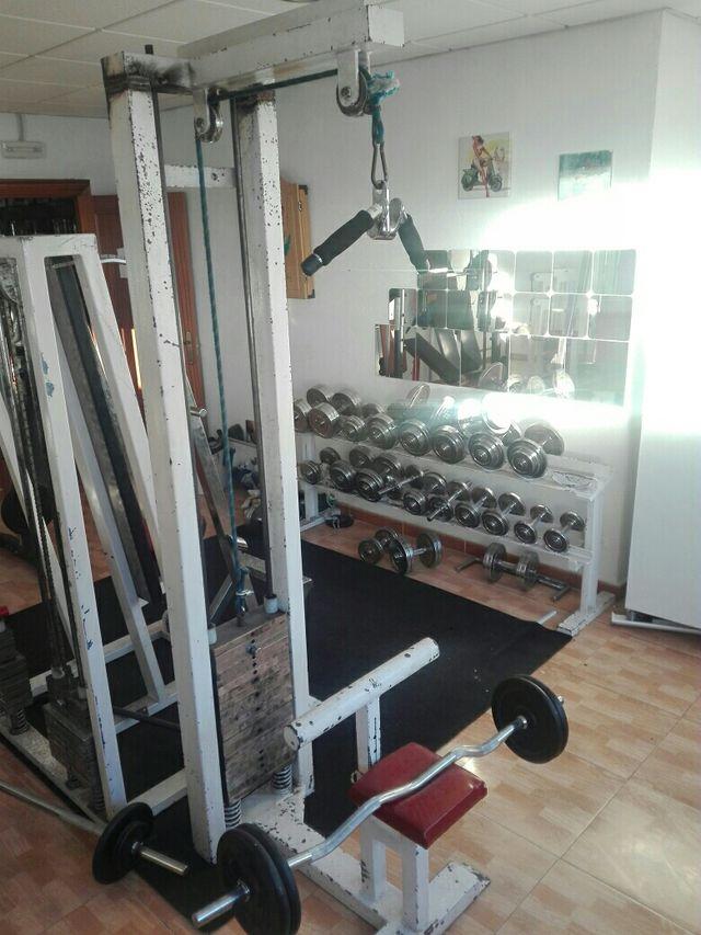Maquina gimnasio polea dorsal,triceps de segunda mano por 200 € en ...