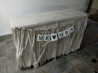 mesa y tablero para bodas y eventos