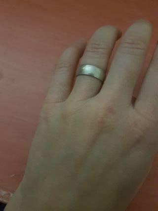 anillo liso de plata