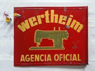 Gran cartel publicitario WERTHEIM. Vintage, 70s.