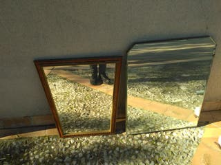 Lote de 2 espejos antiguos