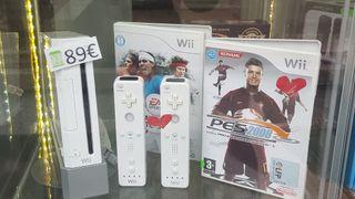 Pack Wii Blanca C/Dos mandos!! Garantia!!!