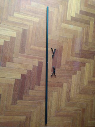 Barra cortina 1,20 negra