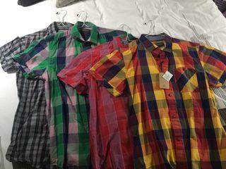 Lote 4 camisas de cuadros S