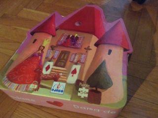 Puzzle Dama Corazones 54 pieza