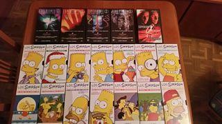 colección vhs los Simpson y expediente x 676340103