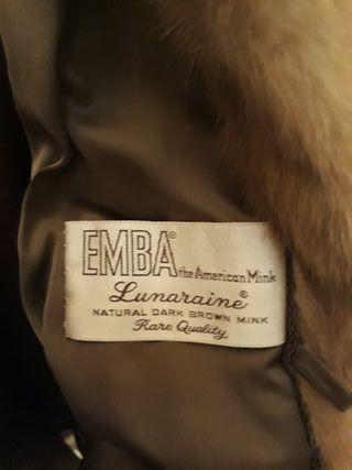 chaqueton de vison juvenil 75 cm de largo se vende