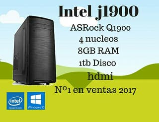 Ordenador PC Intel Quad Core 8GB RAM 1TB HDMI