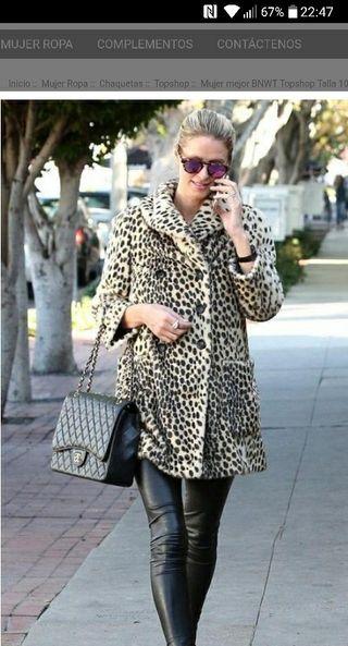 abrigo topshop muy buscado