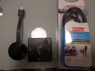 chromecast + switch hdmi + cable hdmi a rca